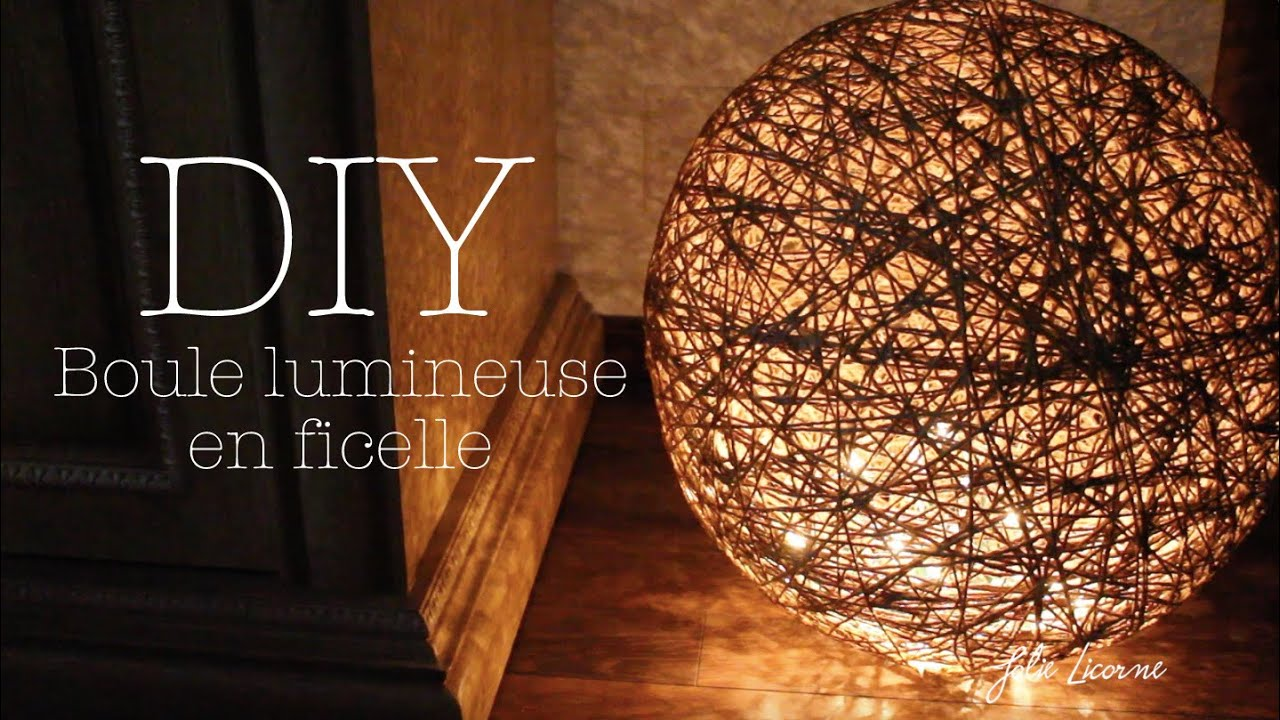 Diy d coration boule lumineuse jolie licorne youtube for Suspension lumineuse