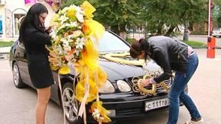 Брюнетка о свадебных авто