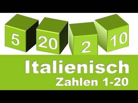 italienische zahlen 1 20