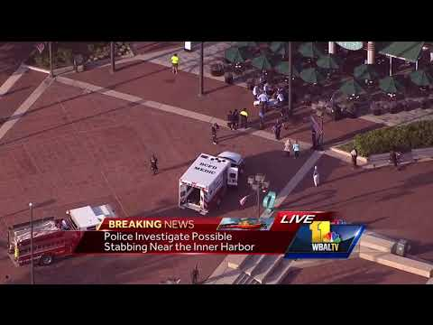 Video: Stabbing reported at Inner Harbor