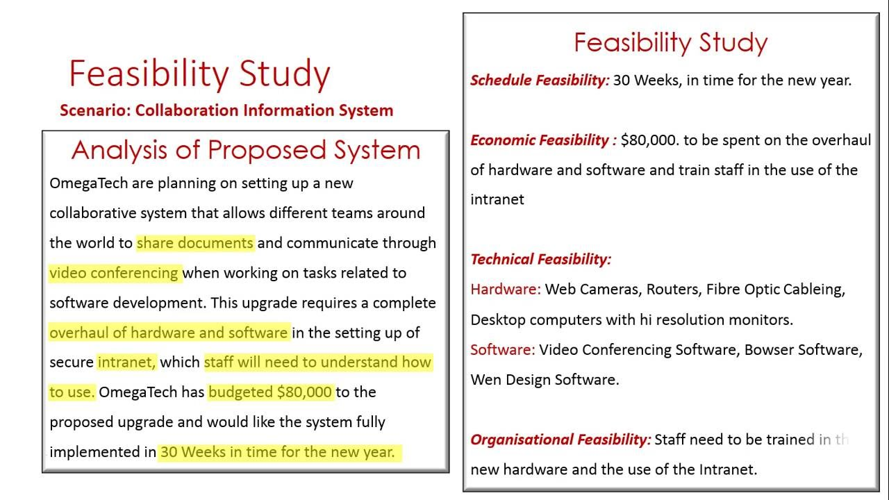 areas of feasibility A feasibility study may evaluate the economic, technical or market value of a new product or service comstock/comstock/getty images.