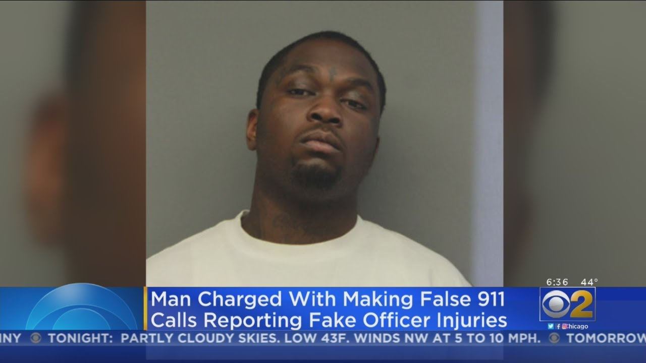 CHICAGO, ILLINOIS: BLACK MAN CHARGD WITH PLACING FAKE 911 CALLS