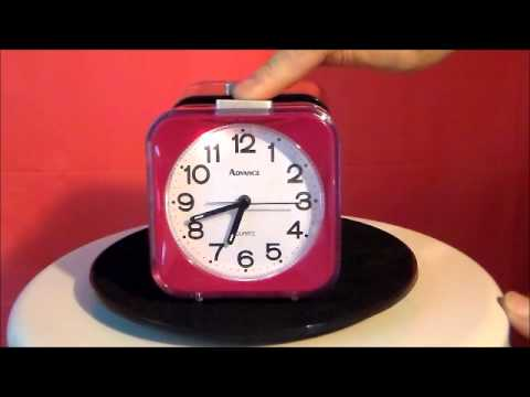 Advance 2240/2241 Quartz Analog Alarm Clock / Black / Pink