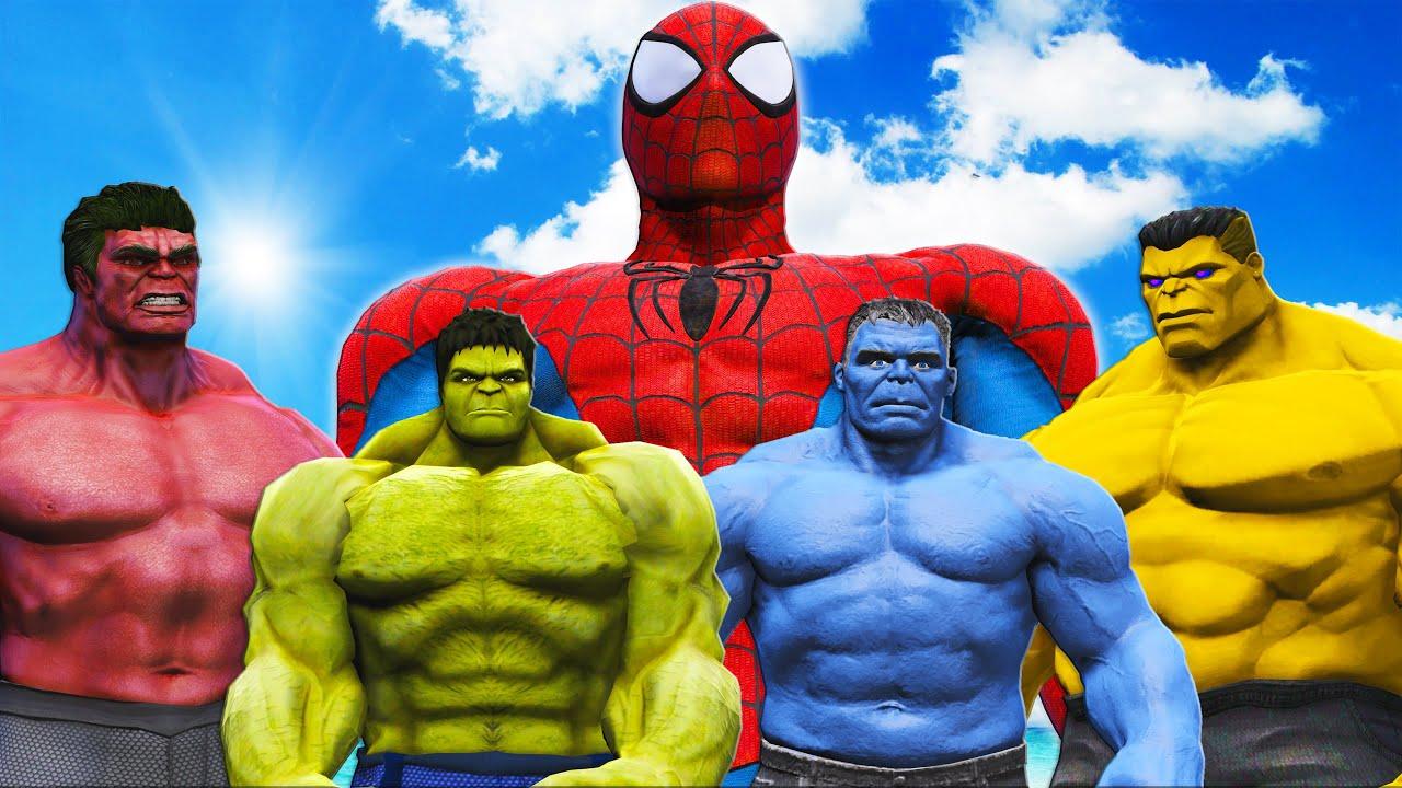 Download TEAM HULK VS SPIDERMAN MUSCLE - EPIC SUPERHEROES BATTLE