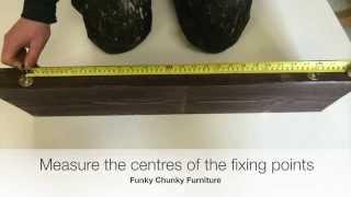 How To Fit A Floating Shelf: Keyhole Brackets