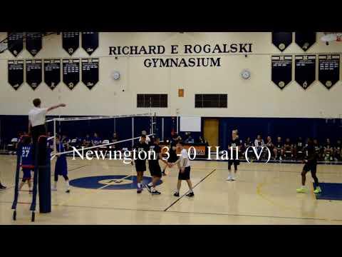 Newington Boys Volleyball vs Hall April 25, 2018