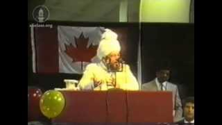 Inaugural Address, Jalsa Salana Canada July 1991.