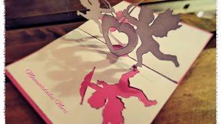 Manualidades: Tarjeta Pop Up Cupido para regalar en San Valentin.