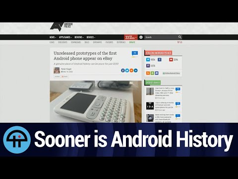 Google Sooner is Android History