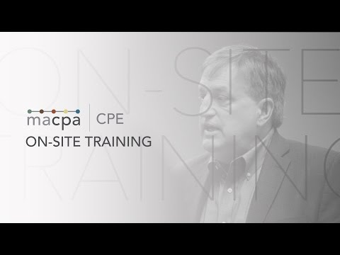 The Value of On-Site Training From the Maryland Association of CPAs (MACPA)