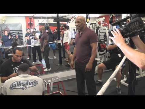 Mike Tyson Hits Iron Mike Productions GYM