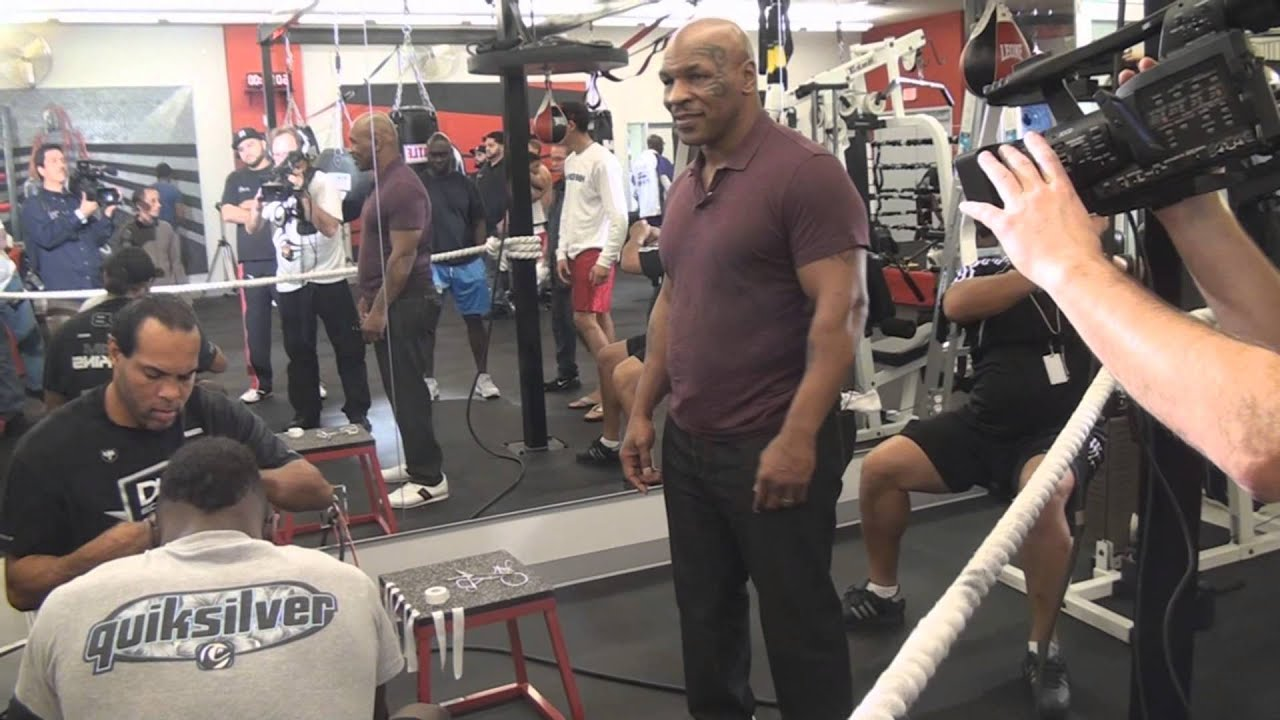 Mike tyson hits iron mike productions gym youtube