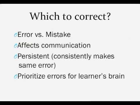 error and mistake