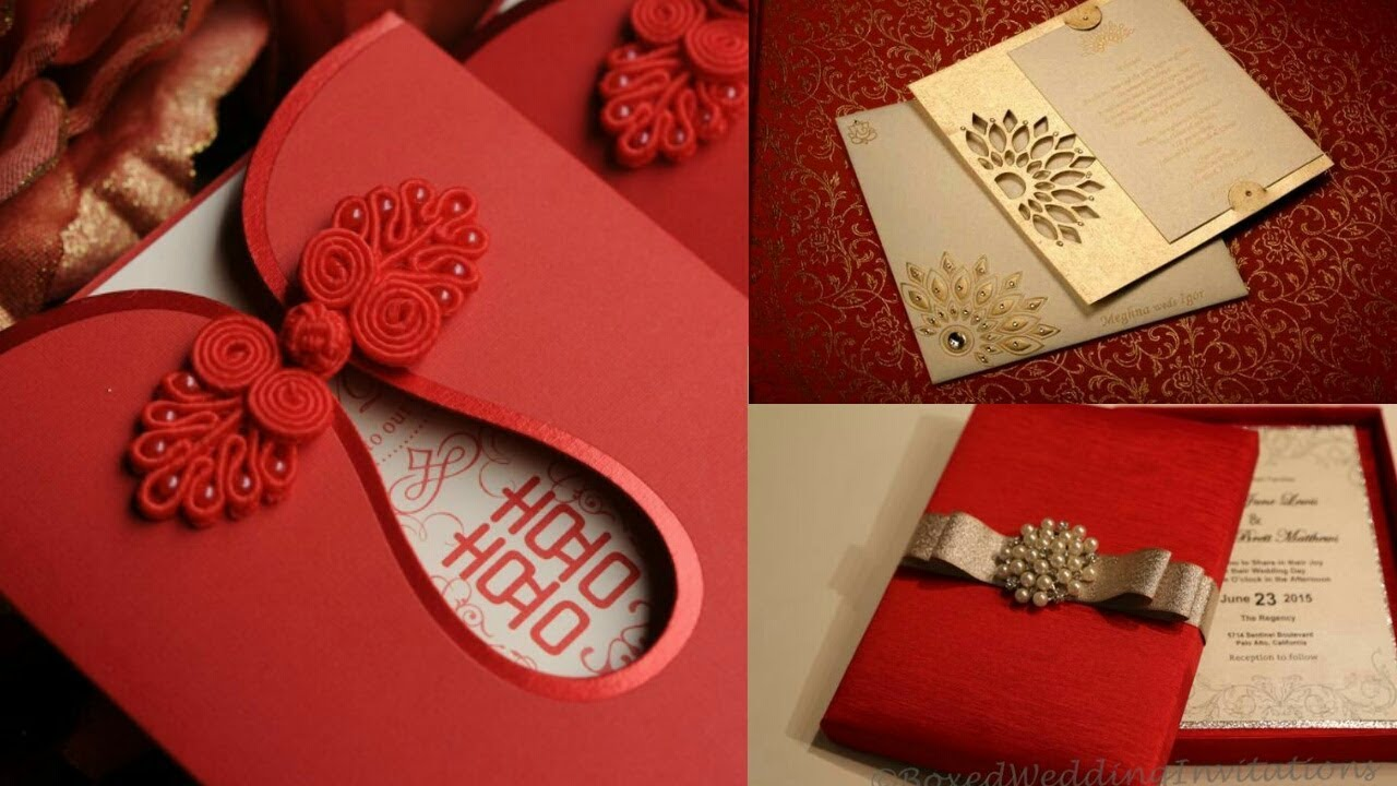 indian marriage invitation card format%0A New Fashionable Wedding Cards Indian Wedding Card Design YouTube