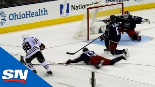 Patrick Kane Scores After Give-And-Go With Brent Seabrook