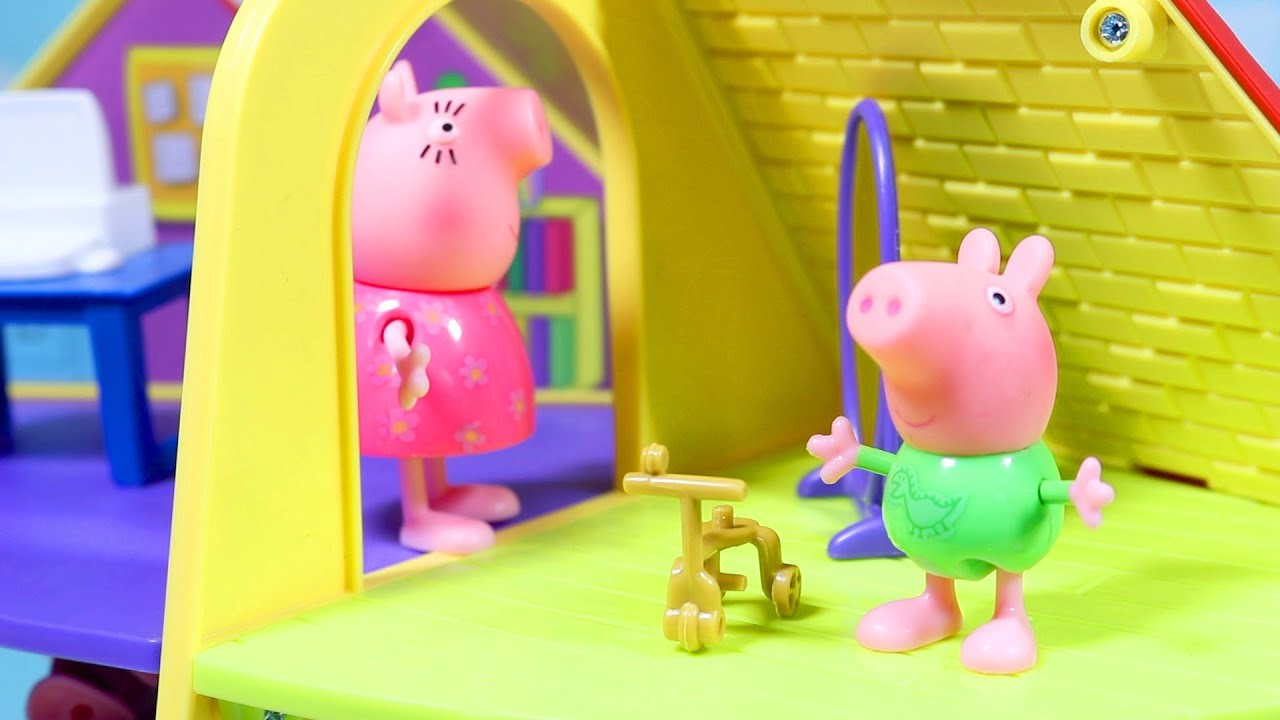 Peppa Pig Gets A New Toy House Learning Video