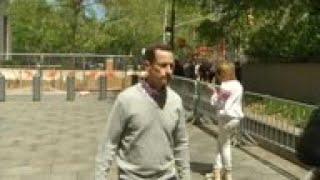 Weiner visits his probation officer