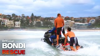 Bra Boy Jesse gets rescued from Jetski | Bondi Rescue S7