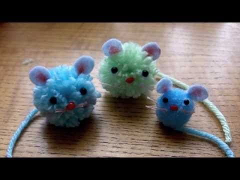 How to make pom pom mice cute crafts with lady lucas for Crafts to make with pom poms