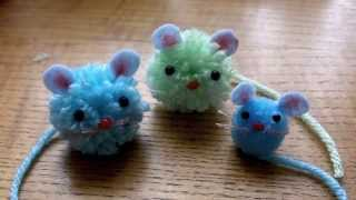 How To Make Pom Pom Mice | Cute Crafts With Lady Lucas