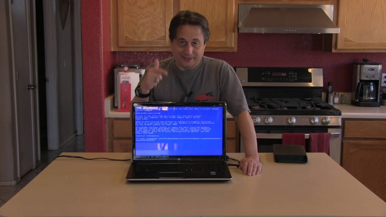 black blank bsod blue screen on hp laptop youtube