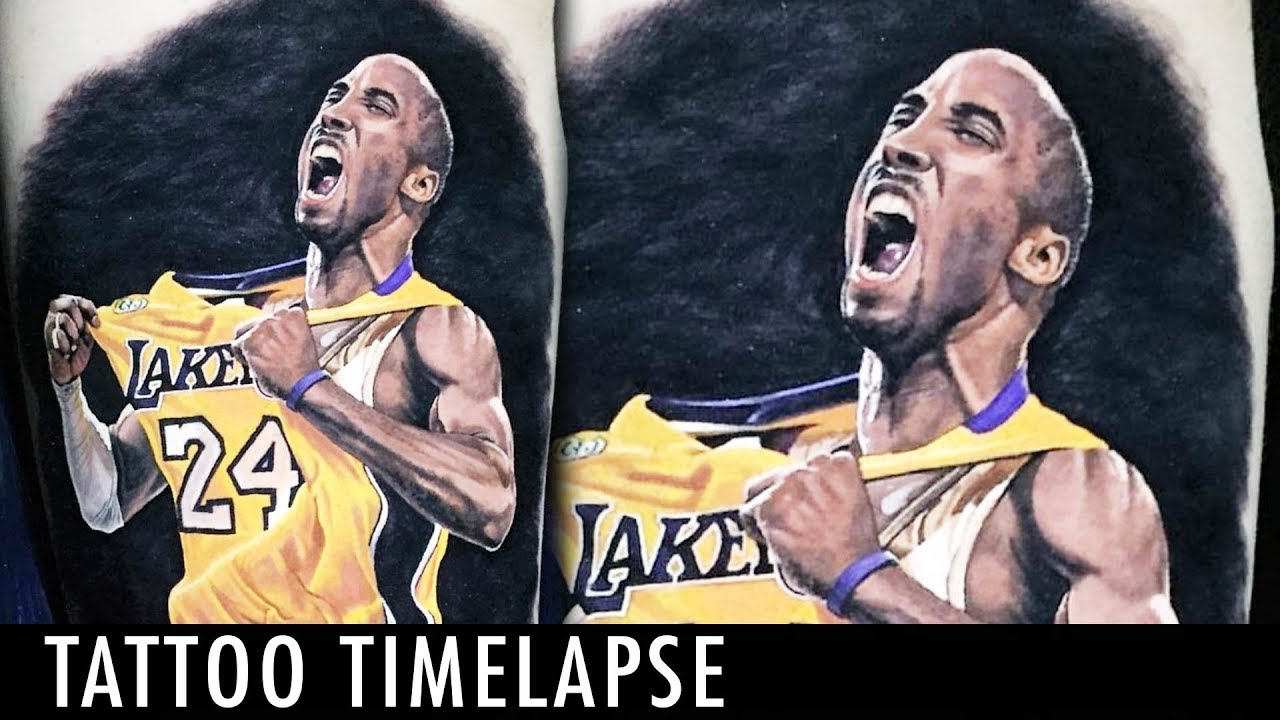 Kobe Bryant Tattoo Timelapse Steve Butcher
