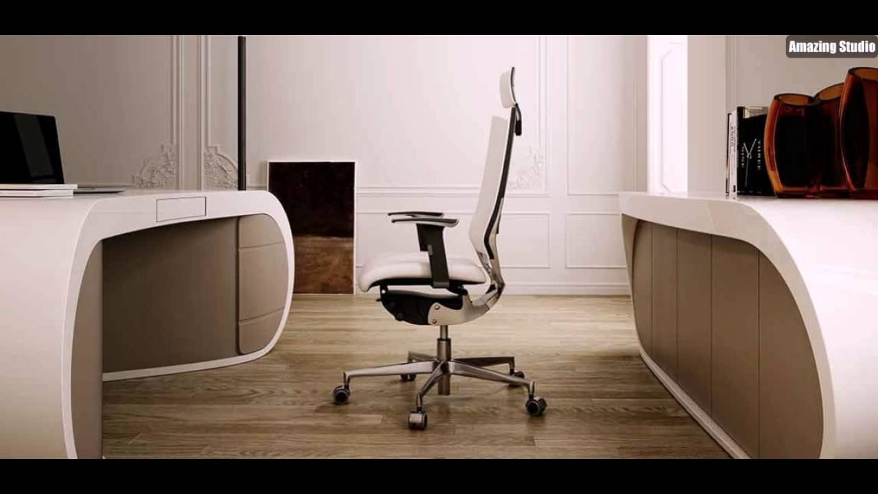 Schreibtisch modern  Designer Schreibtisch Büroräume Modern Einrichten Mit Buromöbel In ...