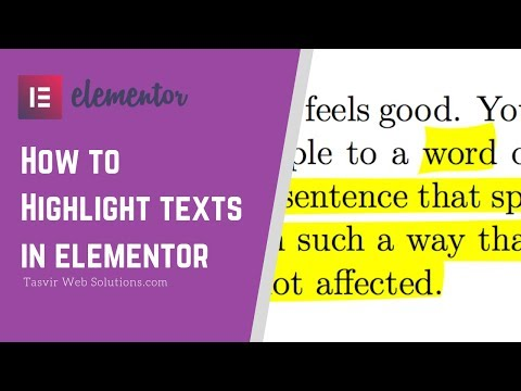 How To Highlight Text In Elementor