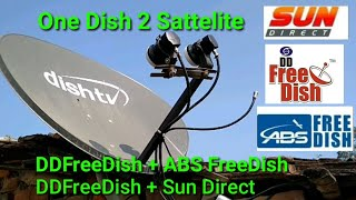 One Dish 2 Sattelite DDFreeDish + ABS FreeDish Full Installation Settings 190+ TV Channels
