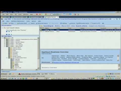Appassure - MailRetriever - Replay AppImage - Message Level Recovery Software