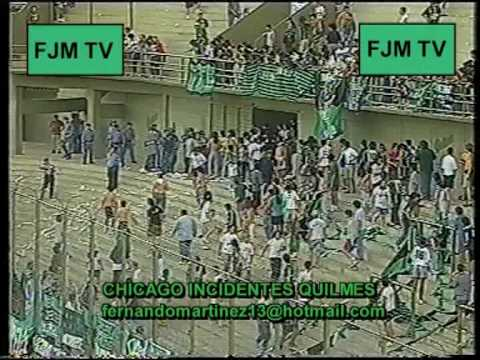 QUILMES 0 CHICAGO 0 INCIDENTES 1 - FECHA 06/11/1999 from YouTube · Duration:  9 minutes 32 seconds