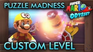 The Creative Puzzle Madness Custom Level - Super Mario Odyssey Maker