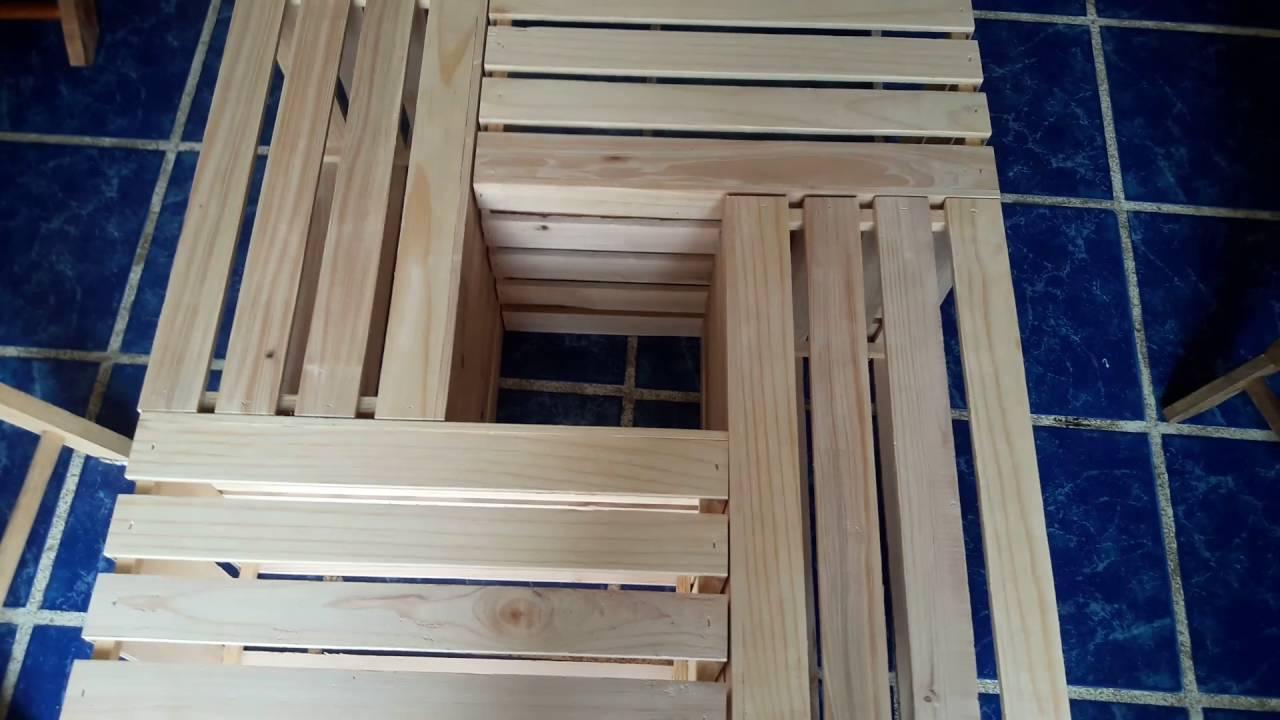 Mesas con cajas de madera youtube - Mesas con cajas de madera ...