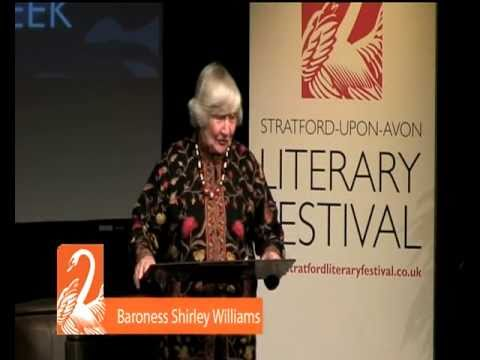 Stratford Literary Festival 2011- Shirley Williams Highlights