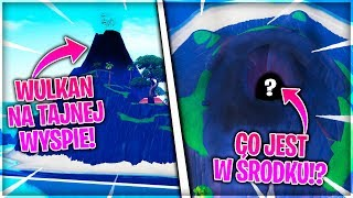 HIDDEN ISLAND WITH THE SECOND VOLCANO! CHECK WHAT IS INSIDE! * Glitch * (Fortnite Battle Royale)