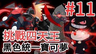 【精靈寶可夢 究極之日】#11 打倒四天王!色違黑色統一Pokemon絕對不能輸挑戰~