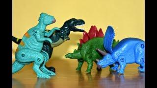 8 Dinosaurs Transforming Eggs Toys For Kids Tyrannosaurus Rex Stegosaurus Triceratops