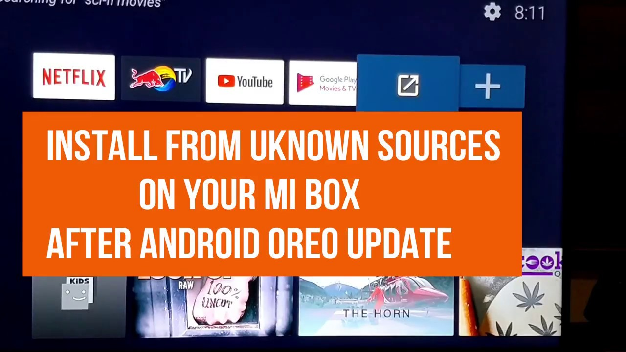 Install from Unknown Sources on your Mi Box after Android Oreo Update