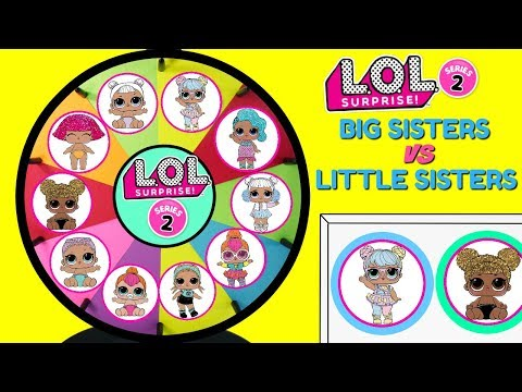 LOL Surprise BIG SISTERS VS LITTLE SISTERS The Hunt For Bon Bon Spinning Wheel Game Toy Surprises