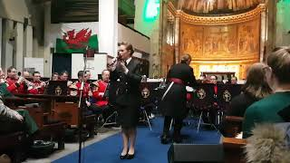 Rebecca Nelson and The Band of the Welsh Guards perform Tarakihi