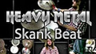 Heavy Metal Drumming-Skank Beat for Metal Beginners-Online Drum Lesson