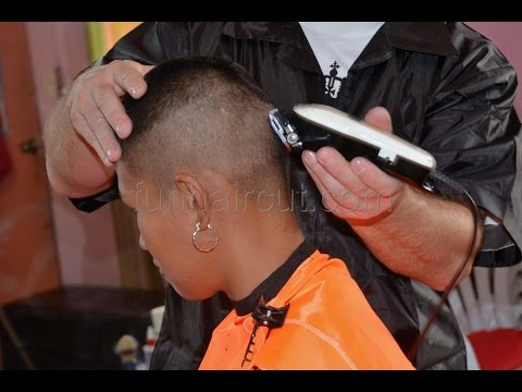 Barbershop girl military hair cut from YouTube · Duration:  30 minutes 44 seconds