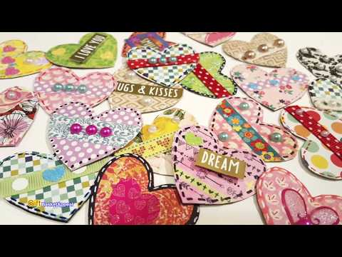 EASY HEART EMBELLISHMENTS USING SCRAPS & STASH | VALENTINE'S DAY CRAFTS