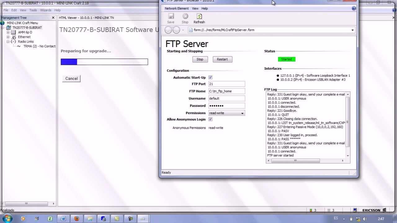 Configuracion ericsson mini link trafic node