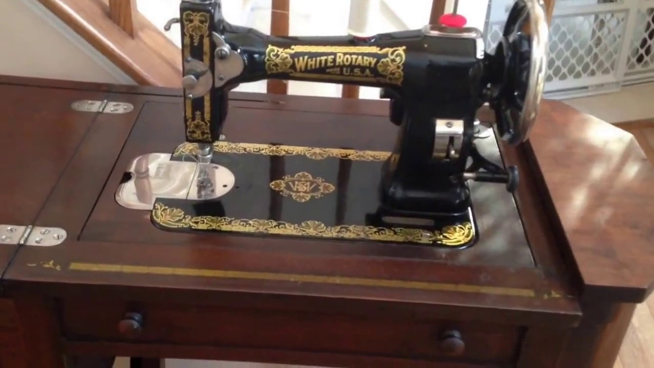 White Rotary Sewing Machine Youtube