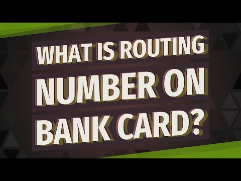 What Is Routing Number On Bank Card?