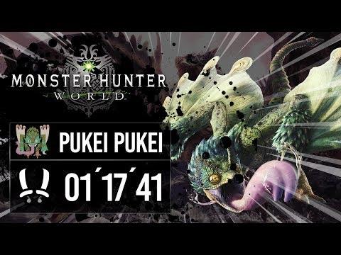 [SPEEDRUN] Monster Hunter World - 6★ / Pukei Pukei / 01 17´ 41´´ / Duales thumbnail