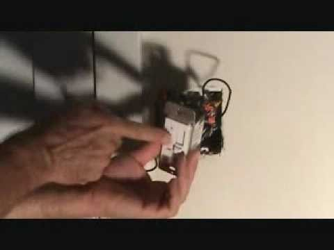 How to properly connect a ceiling fan wall switch  YouTube