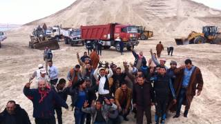 New Suez Canal workers shouting Long live the Egyptian army Musroash