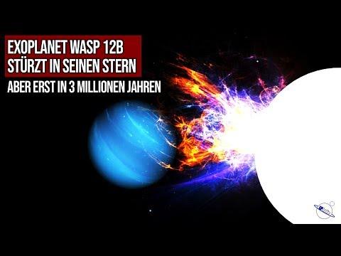 Exoplanet WASP12b stürzt in seinen Stern - Aber erst in 3 Mio Jahren
